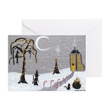 Holiday Witch Candy Cane Greeting Cards (Pk of 20)