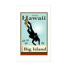 Travel Hawaii Rectangle Decal