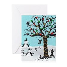 Holiday Witch Snowman Greeting Cards (Pk of 20)