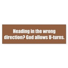 Heading in the wrong direction? God allows U-turns