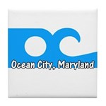 Ocean City Flag Tile Coaster