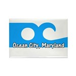 Ocean City Flag Rectangle Magnet (10 pack)