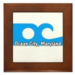 Ocean City Flag Framed Tile
