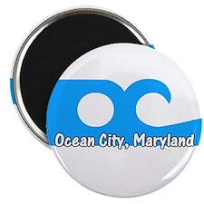 """Ocean City Flag 2.25"""" Magnet (10 pack)"""