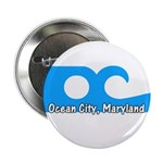 "Ocean City Flag 2.25"" Button (100 pack)"