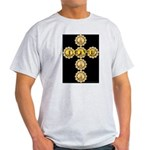 LOVE Golden Crucifix Ash Grey T-Shirt
