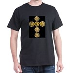 LOVE Golden Crucifix Black T-Shirt