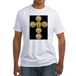 LOVE Golden Crucifix Fitted T-Shirt
