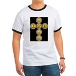 LOVE Golden Crucifix Ringer T