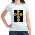 LOVE Golden Crucifix Jr. Ringer T-Shirt