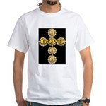 LOVE Golden Crucifix White T-Shirt