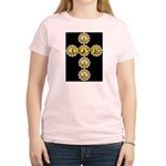 LOVE Golden Crucifix Women's Pink T-Shirt