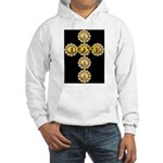 LOVE Golden Crucifix Hooded Sweatshirt