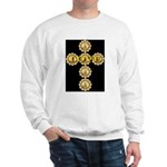 LOVE Golden Crucifix Sweatshirt