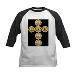 LOVE Golden Crucifix Kids Baseball Jersey