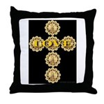 LOVE Golden Crucifix Throw Pillow
