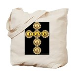 LOVE Golden Crucifix Tote Bag
