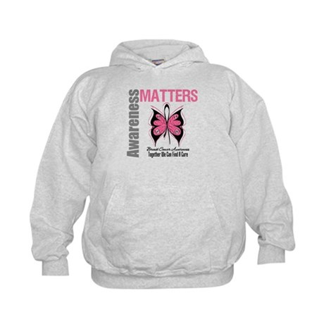 Breast Cancer Butterfly Swag Kids Hoodie