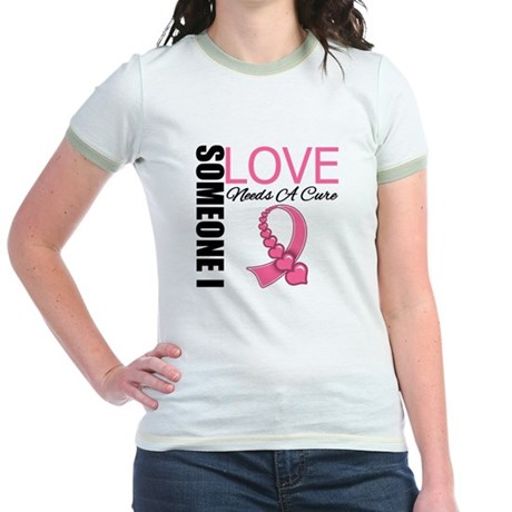 Breast Cancer Needs A Cure Jr. Ringer T-Shirt