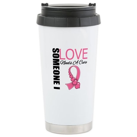 Breast Cancer Needs A Cure Ceramic Travel Mug