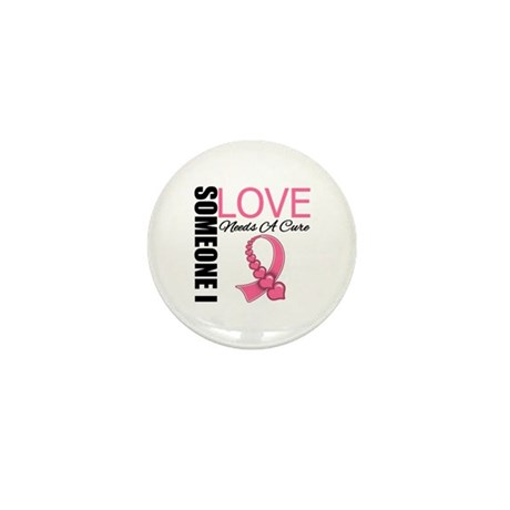 Breast Cancer Needs A Cure Mini Button (100 pack)