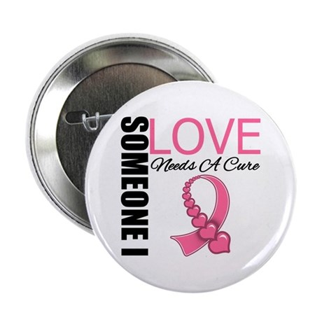 "Breast Cancer Needs A Cure 2.25"" Button (100 pack)"
