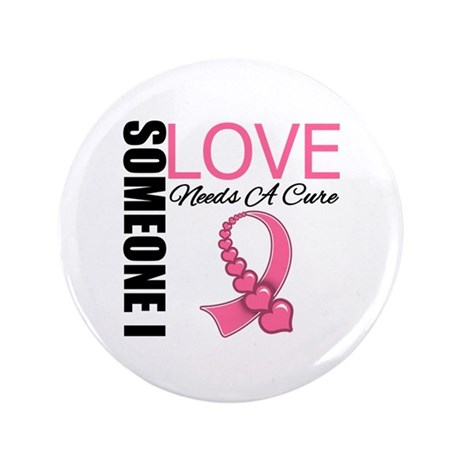 "Breast Cancer Needs A Cure 3.5"" Button (100 pack)"