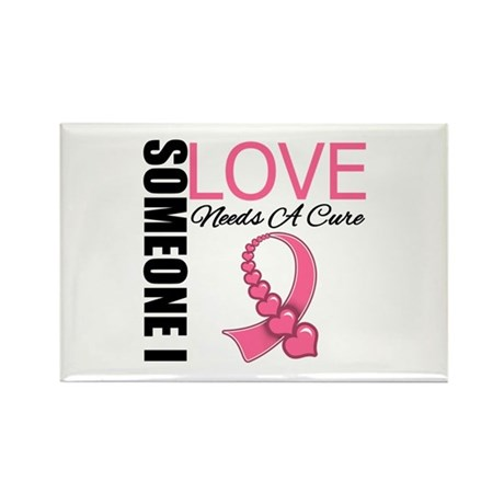 Breast Cancer Needs A Cure Rectangle Magnet (100 p