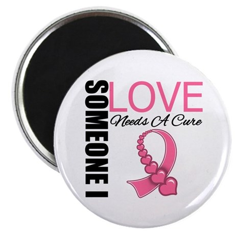 "Breast Cancer Needs A Cure 2.25"" Magnet (10 pack)"