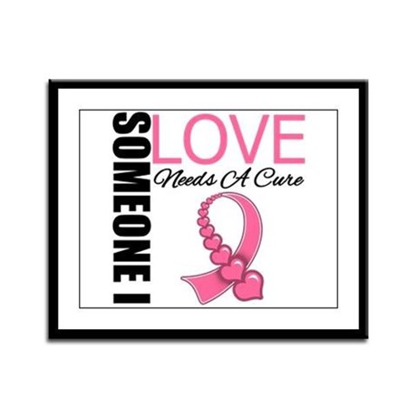 Breast Cancer Needs A Cure Framed Panel Print