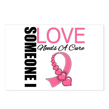 Breast Cancer Needs A Cure Postcards (Package of 8