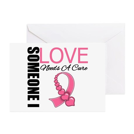 Breast Cancer Needs A Cure Greeting Cards (Pk of 2