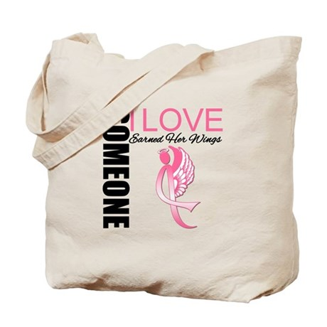 Breast Cancer Earned Wings Tote Bag