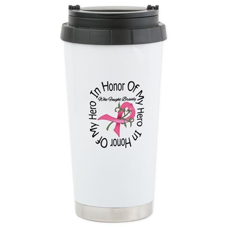 Breast Cancer In Memory Ceramic Travel Mug