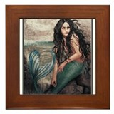 Mermaid Framed Tile