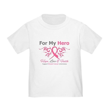 BreastCancerHero Tribal Ribbon Toddler T-Sh