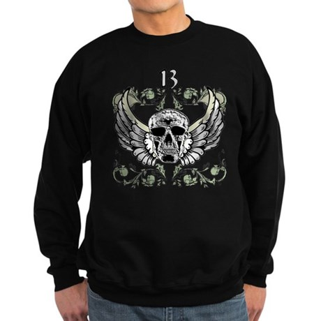 13 Hour Skull Clock Sweatshirt (dark)
