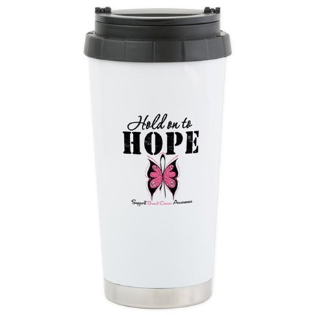 BreastCancer Hold on to Hope Ceramic Travel Mug