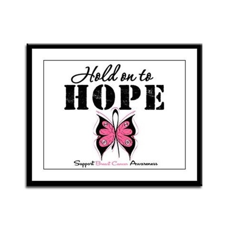 BreastCancer Hold on to Hope Framed Panel Print