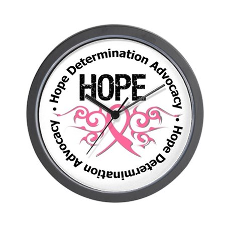 BreastCancer HopeTribal Wall Clock