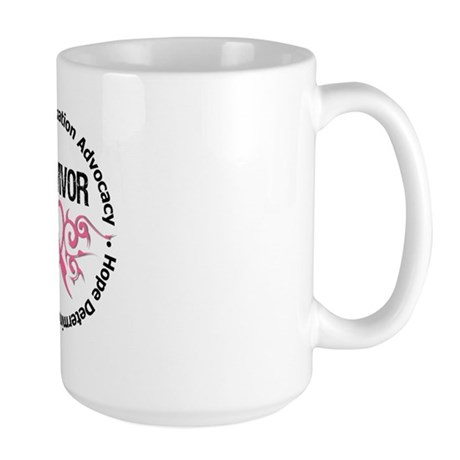 BreastCancerSurvivor Tribal Large Mug