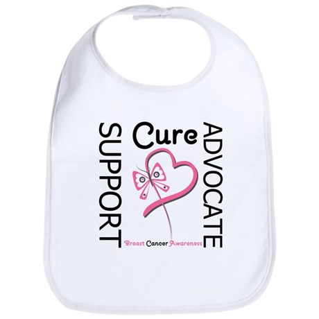 Breast Cancer Ribbon Art Bib
