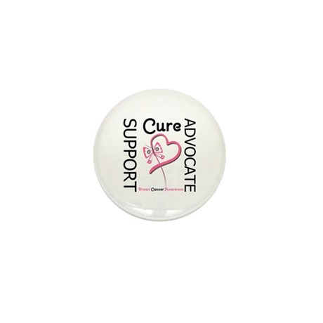 Breast Cancer Ribbon Art Mini Button (100 pack)