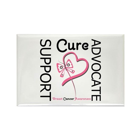Breast Cancer Ribbon Art Rectangle Magnet