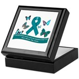Cute Teal butterfly butterflies Keepsake Box