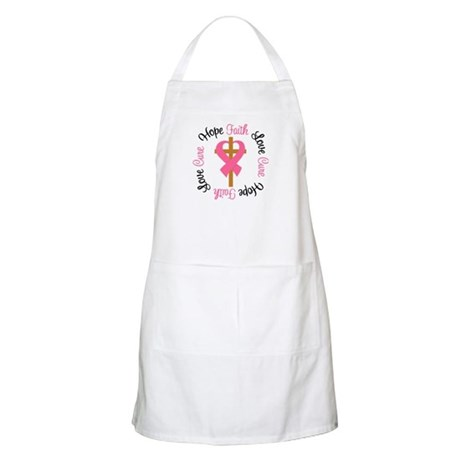 Breast Cancer Cross Ribbon BBQ Apron