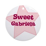 Sweet Gabriela Ornament (Round)