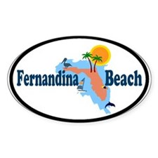 Fernandina Beach FL Oval Decal
