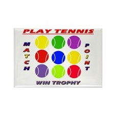 Play Tennis Rectangle Magnet (10 pack)