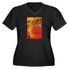 OPERA 3 Women's Plus Size V-Neck Dark T-Shirt